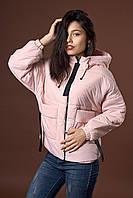 Женская молодежная демисезонная куртка. Код модели К-97-38-17. Цвет пудра.