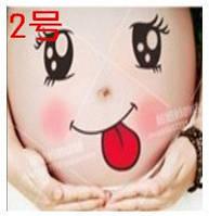 Веселые наклейки на беременный животик для фотосессии №2
