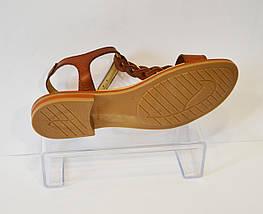 Женские коричневые босоножки Presso 14069, фото 3