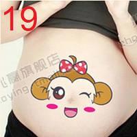 Веселые наклейки на беременный животик для фотосессии №19, Китай