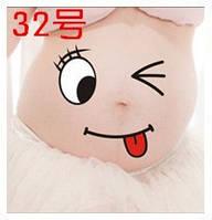 Веселые наклейки на беременный животик для фотосессии №32, Китай