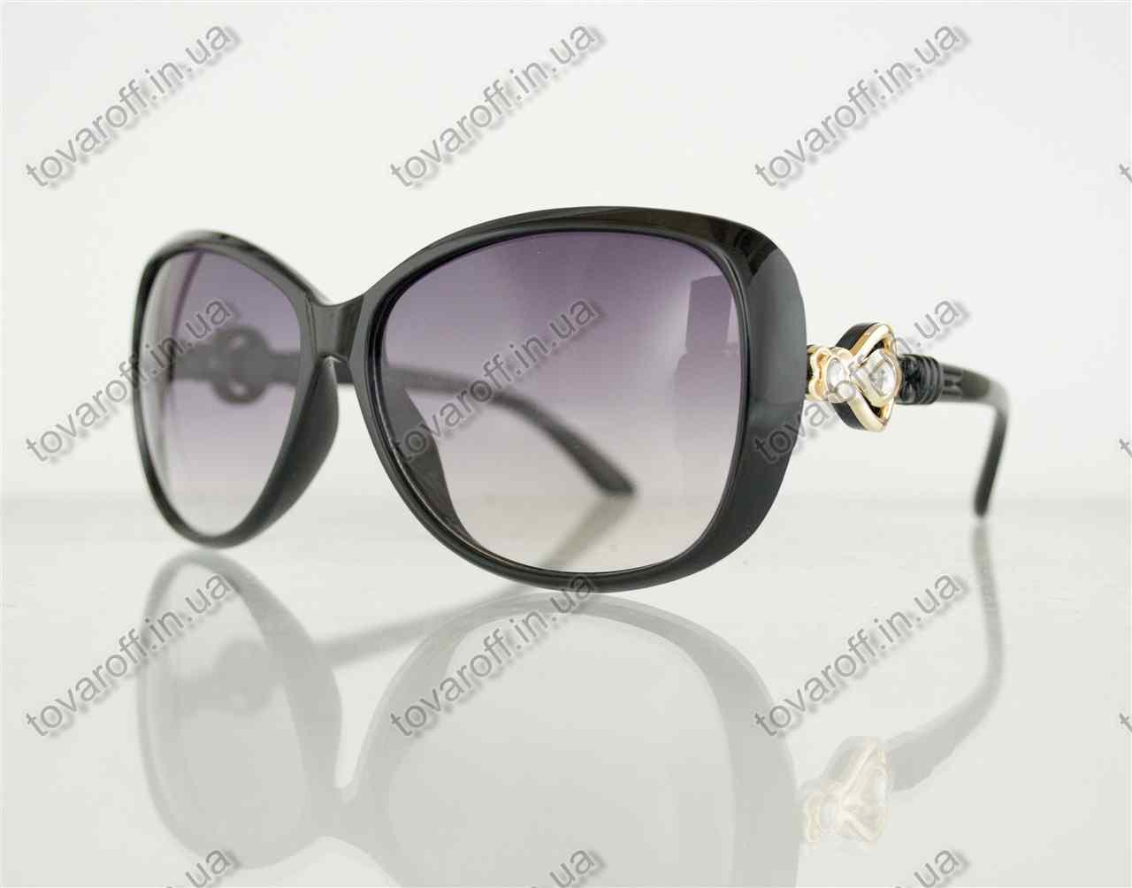Очки женские солнцезащитные - Черные - 8822