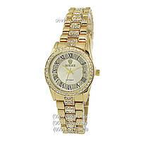 Наручные часы Rolex Datejust Quartz Women Diamonds Gold-Silver (реплика)