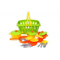 Набор игрушечной посуды в корзине супермаркет, Технок, 4456