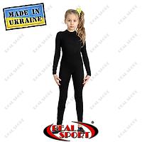 Детский комбинезон для гимнастики Real Sport GM-030050 с длинным рукавом, хлопок
