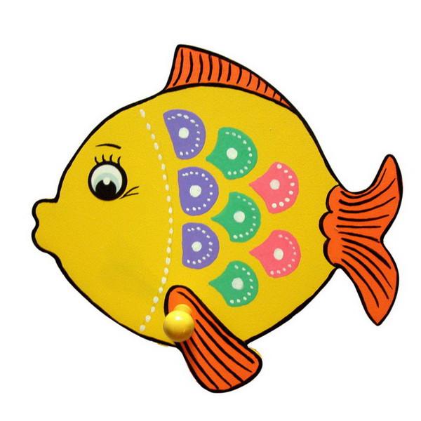 Детская вешалка «Рыбка», Funny Animals