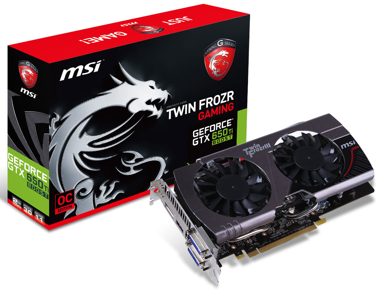 "Видеокарта MSI GTX650 Ti Boost 2GB 192bit DDR5 Twin Frozr ""Over-Stock"" Б/У"