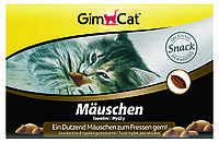Лакомство Gimcat Mauschen для кошек конфеты в виде мышек, 12 шт