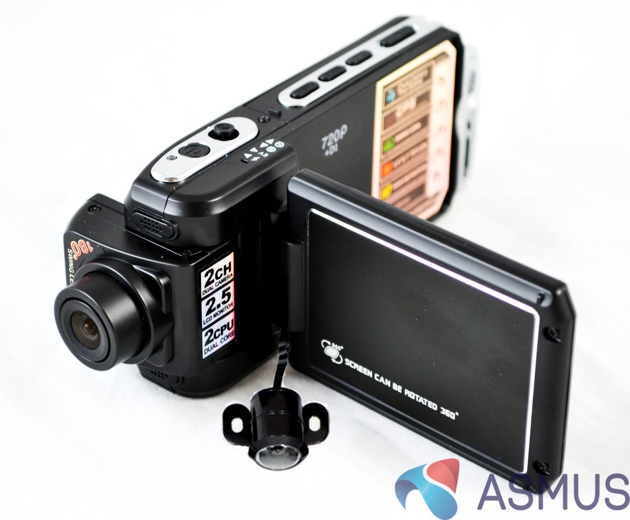 Видеорегистратор dvr p9 gps 2 камеры видео обзор настроит видеорегистратор каркам