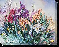 Набор для вышивания бисером на художественном холсте Утро в саду