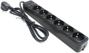 """Мережевий фільтр SPG6-G-6B """"Power Cube"""" 1.8 м кабель, 6 розеток"""