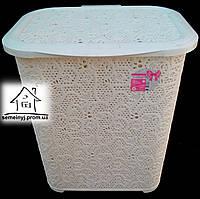 Корзина/Бак для белья Tuppex Ажур (молочная) 45 л