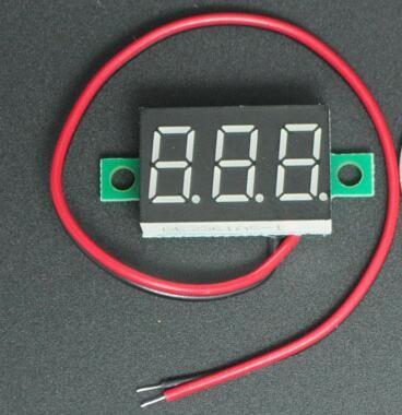 Цифровой вольтметр   DC 4.5-30в  красный