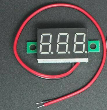 Цифровий вольтметр 4.5 DC-30в червоний, фото 2