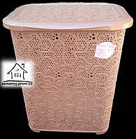 Корзина/Бак для белья Tuppex Ажур (коричневая) 45 л