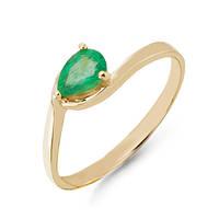 Золотое кольцо с изумрудом 0,65 карат