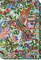 Набор для вышивания бисером на художественном холсте Порхая