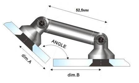 Фітинг HDL 803 52,5 мм, фото 2
