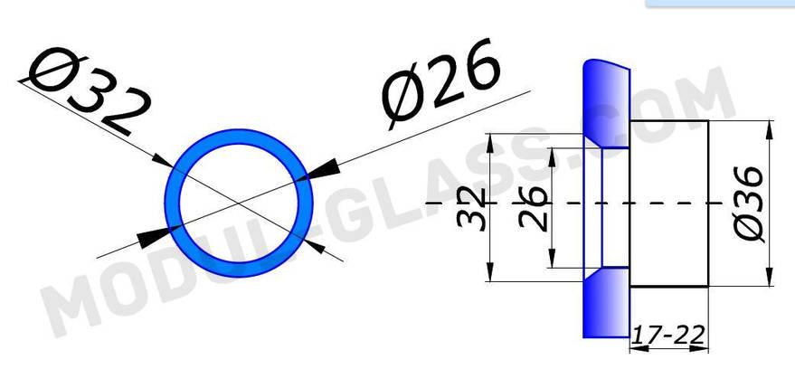 Точка 800-3 с зенковкой 17,0-22,0 мм, фото 2