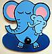 Детская вешалка «Слоники», Funny Animals, фото 2