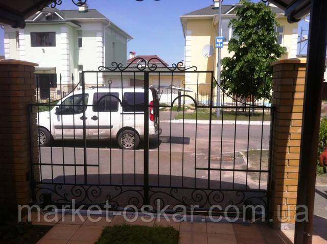 Автоматические въездные ворота во двор