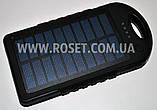 Портативное зарядное устройства на солнечной батарее - Power Bank UKC Solar Charger + CREE LED 28000mAh, фото 2