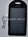 Портативное зарядное устройства на солнечной батарее - Power Bank UKC Solar Charger + CREE LED 28000mAh, фото 6