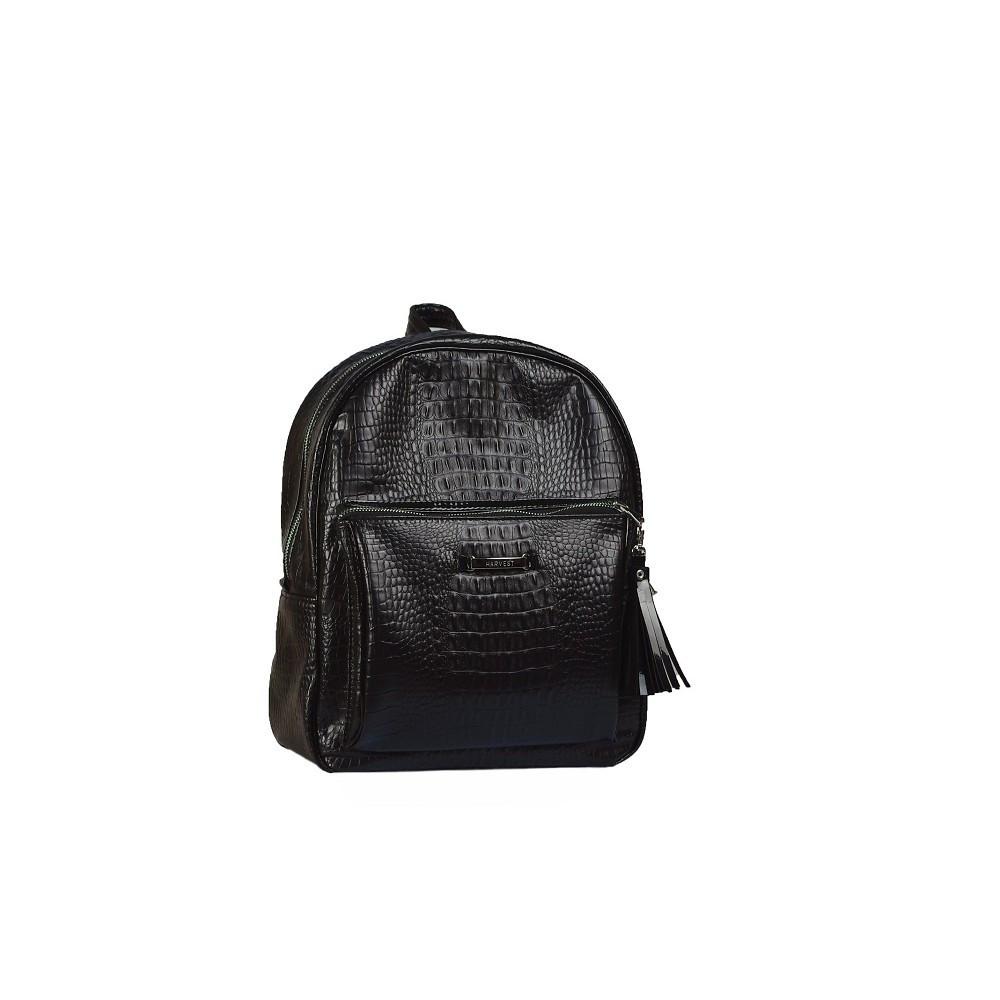 Женский рюкзак Harvest Croco black