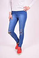 Джинсы  женские стрейчевые Messi (цв.синий) Размеры в наличии : 42,44,46,48 (Код: 2500003011242)