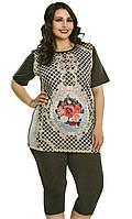 Костюм женский футболка с бриджами