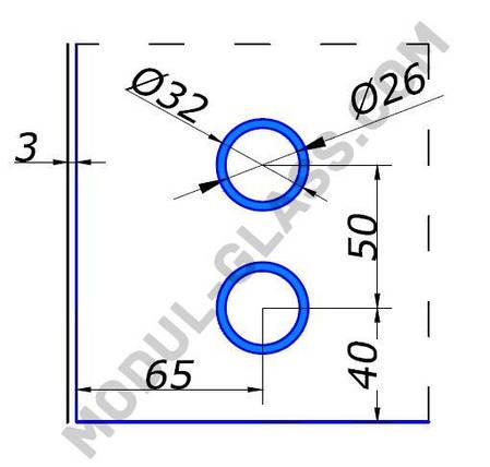 HDL 836 фітінг настінний з віссю, фото 2
