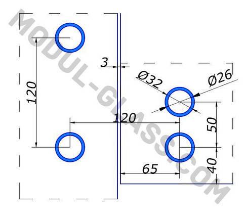 HDL 841 фитинг угловой с осью, фото 2