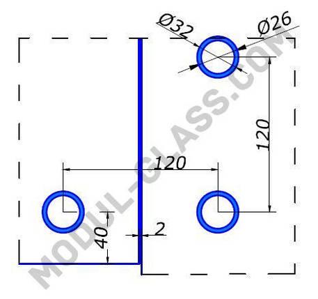 HDL 843 фитинг угловой без оси, фото 2