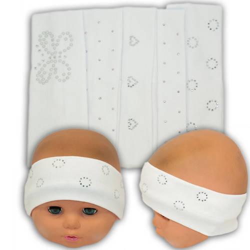 Детские трикотажные повязки с бусинками, AB09-1