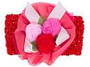 Детская широкая повязка с розами 12 шт/уп, фото 2