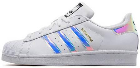 Женские кроссовки Adidas Superstar Iridescent GS White, Адидас Суперстар, фото 2