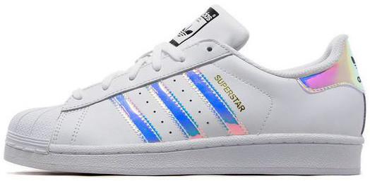 Женские кроссовки Adidas Superstar Iridescent GS White, Адидас Суперстар