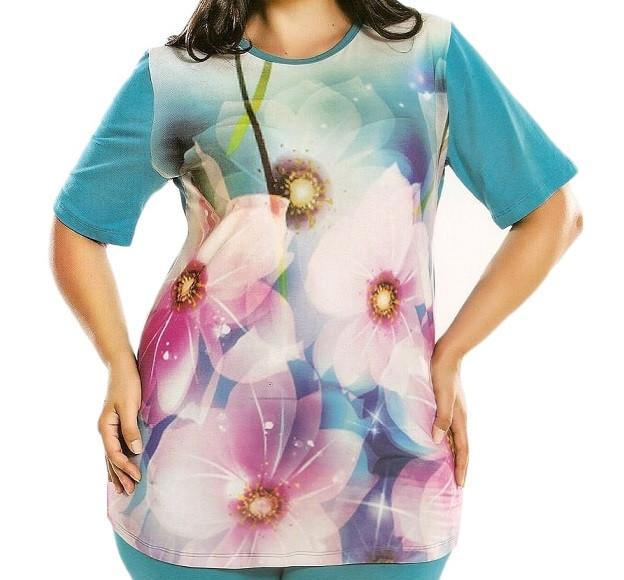 Купить в Украине Летнюю женскую футболкус бриджами