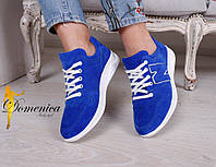 Замшевые кроссовки женские