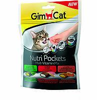 Лакомство Gimcat Nutri Pockets Malt-Vitamin Mix для кошек микс вкусов, 150 г