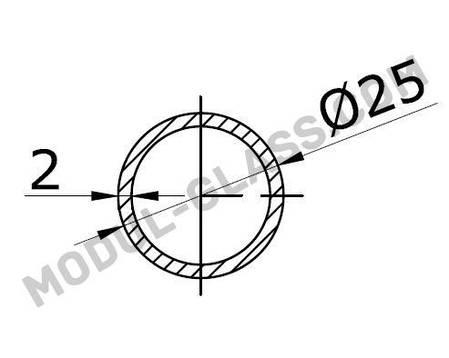 Труба 25 мм под трек, фото 2