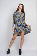 Платье Цветы зеленое