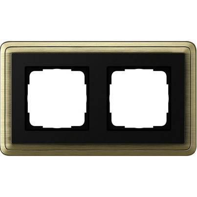 Рамка 2-пост. GIRA ClassiX бронза/чёрный