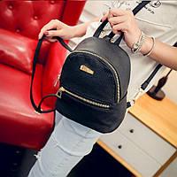 Женский городской рюкзак черного цвета, фото 1
