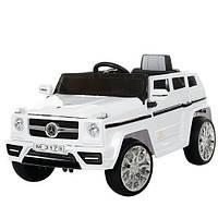 Детский электромобиль джип Mercedes Гелик M 3173 EBR-1 колеса EVA, USB.MP3,свет, белый