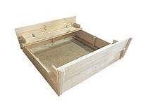 Песочница из сосны с крышкой под покраску, фото 1