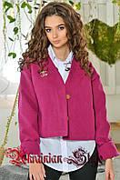 Женское короткое кашемировое пальто-жакет