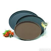 02140/01265 Поднос официанта коричневый нескользящий 350 мм
