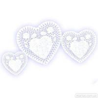 21044 Салфетка ажурная Сердце 250 шт / 160 мм