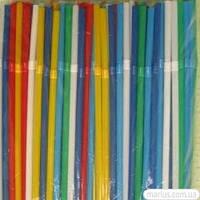 31595 Трубочки цветные с длинной гофрой 270 мм / 100 шт